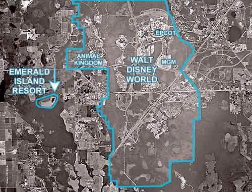 Map Of Emerald Island Resort
