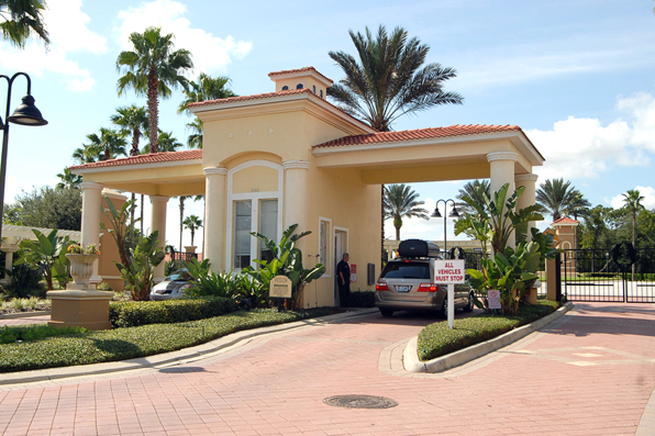 Emerald Island Resort Guarded Entrance